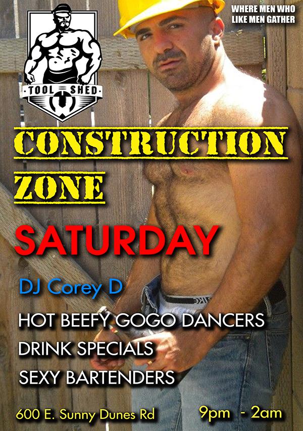 All logical Road construction blue collar men shirtless